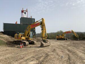 Digger training area