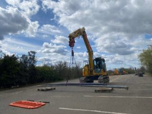 NPORS N100 Excavator as a crane course
